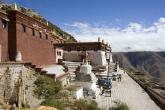 Ganden Buddhist Monastery - Tibet Stock Photo