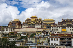 Ganden Sumtseling Monastery. A beautiful monastery in Shangri-La China royalty free stock photo