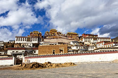 Ganden Sumtseling Monastery in Shangrila, China. It is one of the landmark in China royalty free stock image