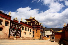 Ganden Sumtseling Monastery in Shangrila, China. Ganden Sumtseling Monastery in Shangrila,It is the biggest temple in Yunnan Province, China royalty free stock images