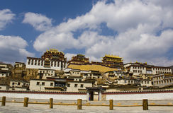 Ganden Sumtseling Monastery in Shangrila, China. Ganden Sumtseling Monastery in Shangrila,It is the biggest temple in Yunnan Province, China stock photos
