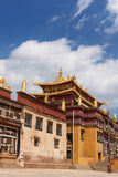 Ganden Sumtseling Monastery in Shangrila, China. Ganden Sumtseling Monastery in Shangrila,It is the biggest temple in Yunnan Province, China royalty free stock image