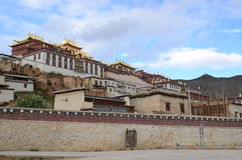 Ganden Sumtseling Monastery in Shangrila, China Royalty Free Stock Photo