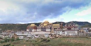 Ganden Sumtseling Monastery in Shangrila, China. Ganden Sumtseling Monastery in Shangrila,Yunnan, China stock images