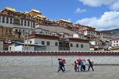Ganden Sumtseling Monastery in Shangrila, China. Ganden Sumtseling Monastery in Shangrila,Yunnan, China royalty free stock photos