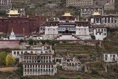 Gandenklooster in Tibet - China Royalty-vrije Stock Fotografie
