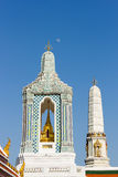 Gandhara Buddha Viharn. At temple of the Emerald Buddha, Wat Phra Kaew, Bangkok, Thailand royalty free stock photo