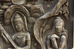 Gandharvas en Kluizenaar Royalty-vrije Stock Fotografie