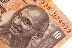 Gandhi. On a IRs10 banknote Royalty Free Stock Photography