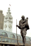 Gandhi bij de veerbootterminal van San Francisco Stock Fotografie