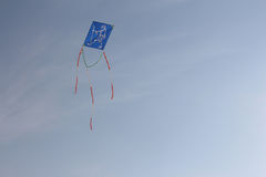 Gandhi Blue Kite Fly 2 Stock Images
