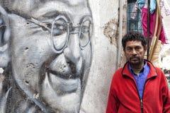 Gandhi e uomo comune Immagine Stock Libera da Diritti