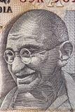 Gandhi en nota de la rupia india fotografía de archivo