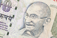 Gandhi image on 100 rupies indian banknote Stock Images