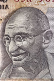Gandhi on Indian Rupee Note. Portrait of Mahatma Gandhi on an Indian ten rupee note.  Great detail Stock Photography
