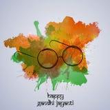 Gandhi Jayanti bakgrund Fotografering för Bildbyråer