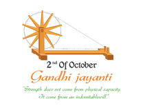 Gandhi Jayanti, 2nd Październik lub Fotografia Royalty Free