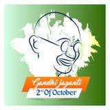 Gandhi Jayanti o 2 de octubre o Mahatma Gandhi Foto de archivo