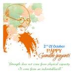 Gandhi Jayanti o 2 de octubre o Mahatma Gandhi Imagen de archivo