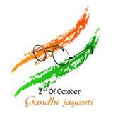 Gandhi Jayanti o 2 de octubre o Mahatma Gandhi Fotos de archivo libres de regalías