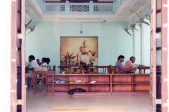 Gandhi minnes- museummadurai tamilnadu Arkivfoto