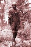 gandhi ny mahatma的纪念碑 免版税库存照片