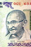 Gandhi on rupee note Stock Images
