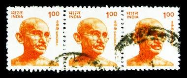 Gandhi serie, circa 1991 Arkivfoto