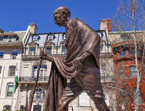 Gandhi-Statuen-indisches Botschafts-Botschaftsviertel-Washington DC lizenzfreie stockbilder
