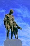 Gandhiji with a child Royalty Free Stock Photo