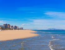 Gandia beach in mediterranean sea Royalty Free Stock Image