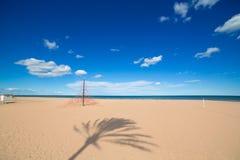 Gandia Beach sand in Mediterranean Sea of Spain Royalty Free Stock Image