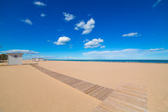 Gandia Beach sand in Mediterranean Sea of Spain Stock Image