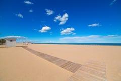 Gandia Beach sand in Mediterranean Sea of Spain Stock Image