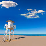 Gandia beach in Valencia Mediterranean Spain Royalty Free Stock Photography