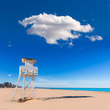 Gandia beach in Valencia Mediterranean Spain Royalty Free Stock Photo