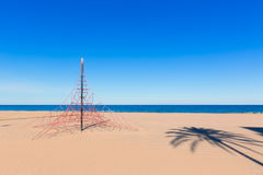 Gandia beach in Valencia Mediterranean Spain Stock Photography