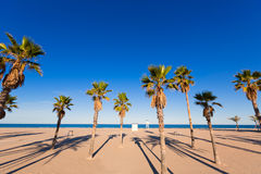Gandia beach in Valencia at Mediterranean Spain Royalty Free Stock Photo