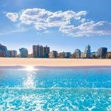 Gandia beach in Valencia Mediterranean Spain Stock Image