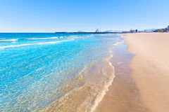 Gandia beach in Valencia Mediterranean Spain Royalty Free Stock Image