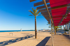 Gandia beach in Valencia at Mediterranean Spain Royalty Free Stock Photography