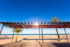Gandia beach in Valencia at Mediterranean Spain Royalty Free Stock Images