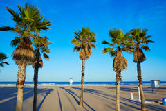 Gandia beach in Valencia of Spain Stock Images
