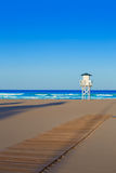 Gandia beach in Valencia of Spain Stock Image