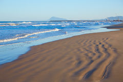 Gandia beach in Valencia of Spain Royalty Free Stock Photos