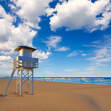 Gandia beach in Valencia of Spain Royalty Free Stock Photo