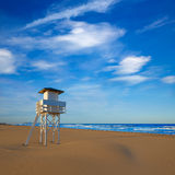 Gandia beach in Valencia of Spain Royalty Free Stock Images
