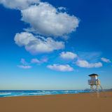 Gandia beach in Valencia of Spain Stock Photo