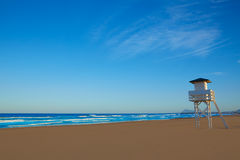 Gandia beach in Valencia of Spain Royalty Free Stock Photography