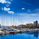 Gandia Nautico Marina boats in Mediterranean Spain Stock Photography
